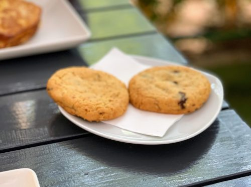 Cookie sa čokoladom u Moon restoranu.